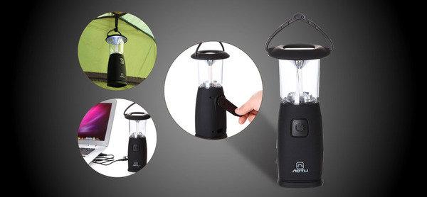 露營照明 光猛十足 太陽能手搖充電露營燈 (AT5532)
