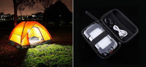 適合各種夜間戶外活動 便攜式充電器與野營燈
