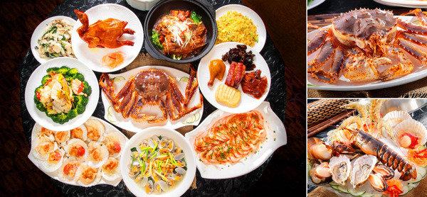 悅軒海鮮酒家 重量級海鮮餐/蒸氣鍋 + 粥底火鍋放題 長腳蟹海鮮九大簋宴
