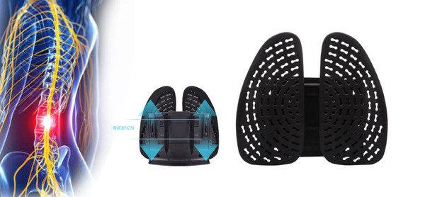 專業兩側可調式護脊腰墊<br>有預防及減低腰痛