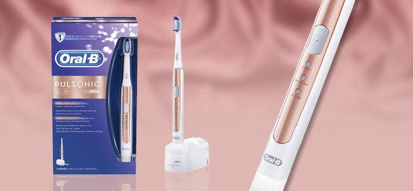 500蚊有找<br>Oral-B Pulsonic Slim S15 特別版玫瑰金聲波纖柔電動牙刷
