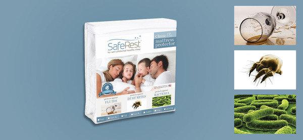 除螨 不如防螨<br>SafeRest 防螨防水防污床笠