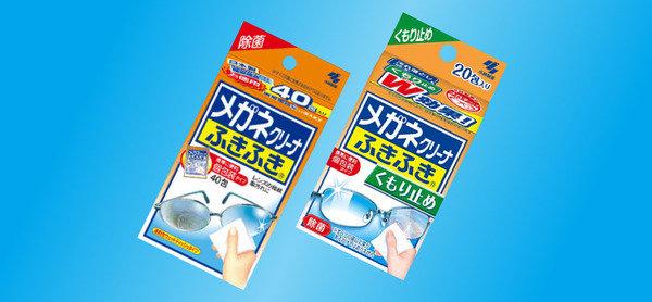 輕輕擦拭,就可以清潔鏡面 / 有效防霧 日本小林製藥鏡面清潔防霧紙巾