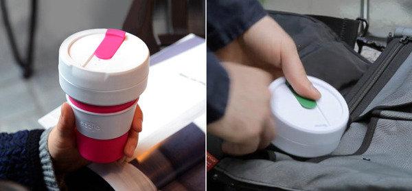 戶外活動及旅行必備<br>Stojo Designs - 美國 Stojo 伸縮杯 紅色