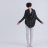 Carmen 蛹型開襟針織衫/深灰