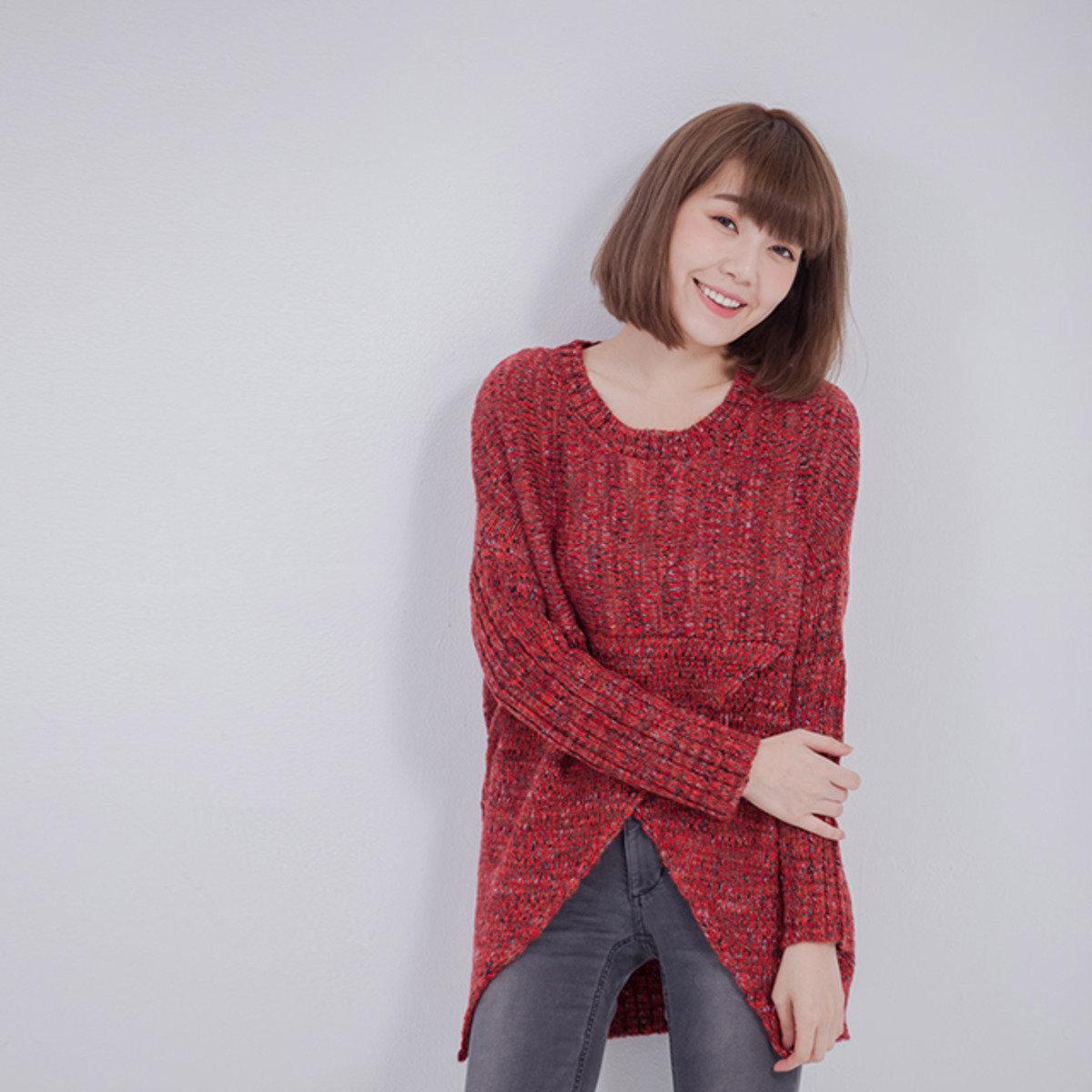 Enid 蛹型針織衫/紅