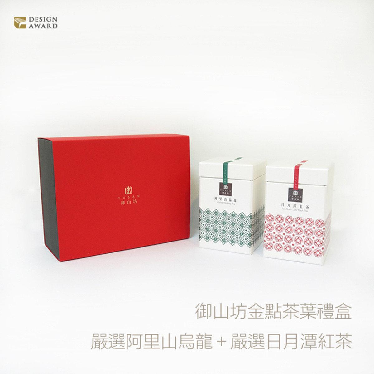 御山坊 『御品』阿里山烏龍 VS 日月潭紅茶 典藏禮盒 (2入/盒)