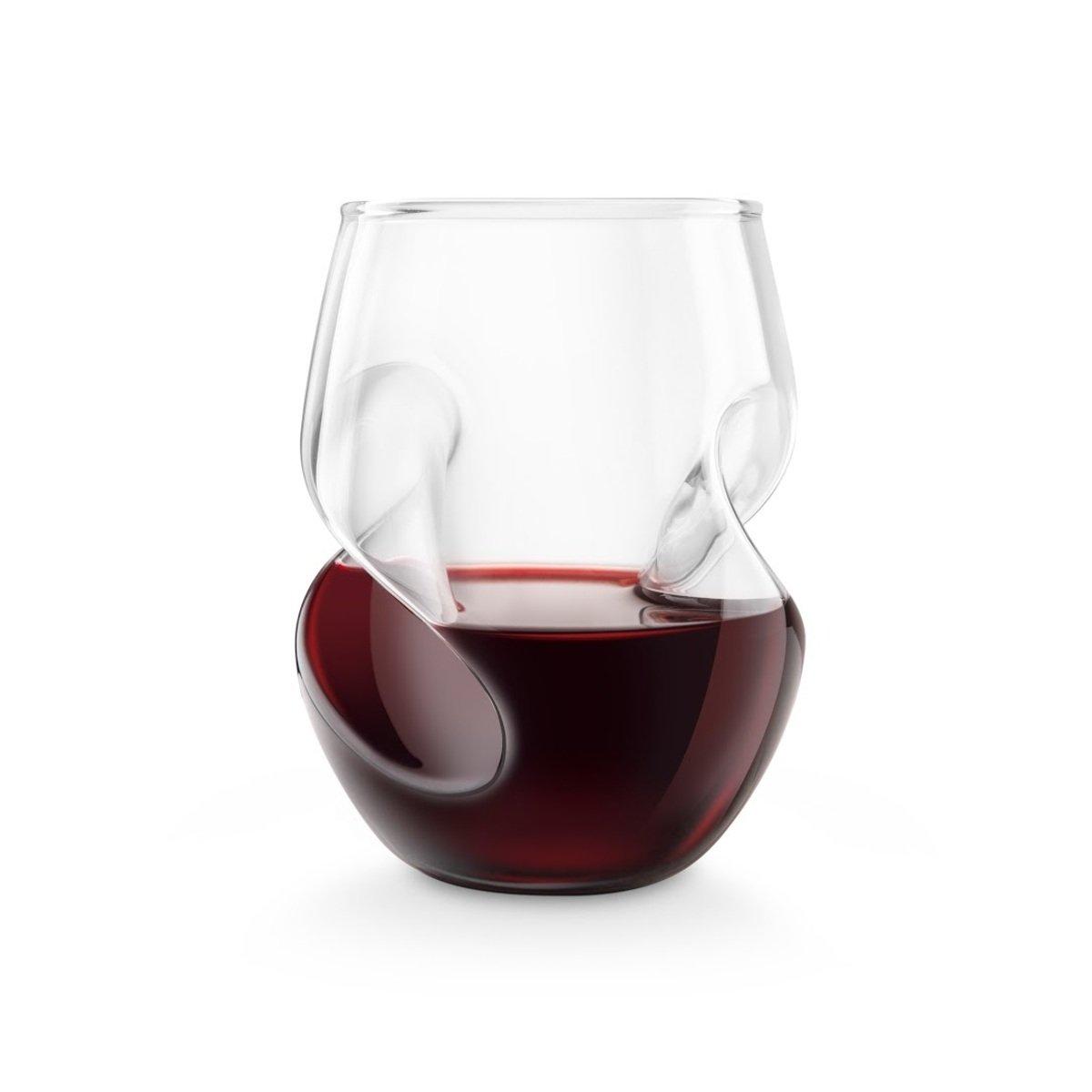 扭紋形紅酒杯 - 4 個紅酒杯