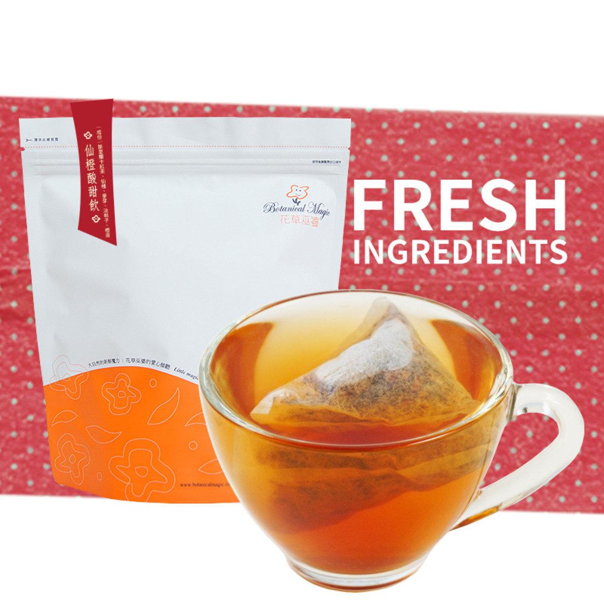 台灣直送【花草巫婆】仙橙酸甜飲25茶包*3袋