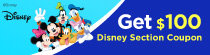 Disney $100 coupon