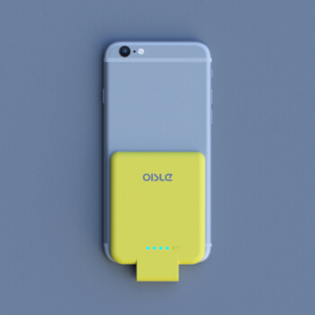 (Yellow) Oisle iPhone Lightning Super Thin Backclip Power Bank 2800mAh