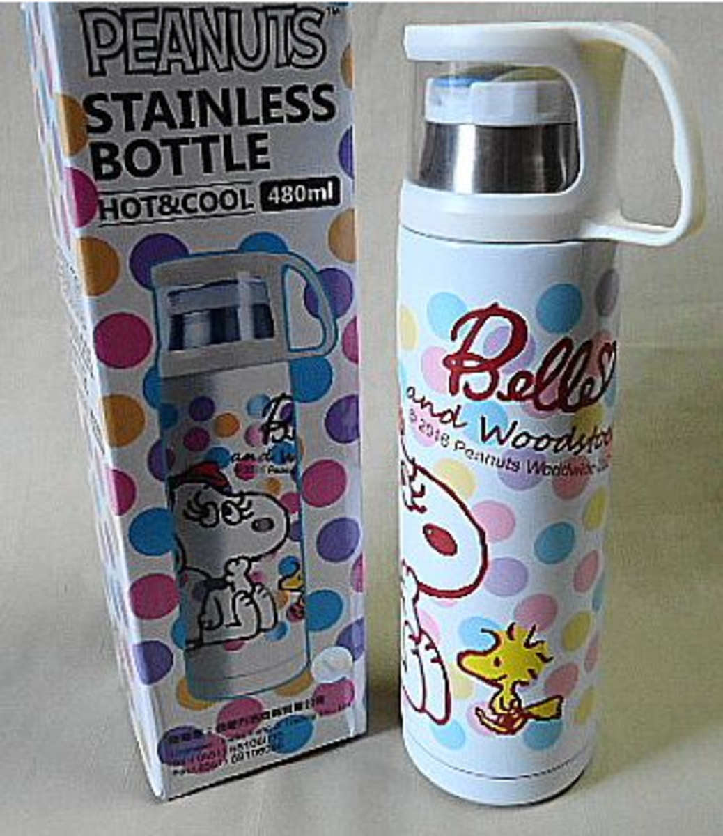 (Polka Dots) Japan Peanuts Snoopy Stainless Steel Insulated Water Bottle 480ml