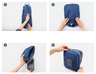(Blue) Simplicity Style Foldable Travel Backpack, Can Insert on Luggage Pull Handle
