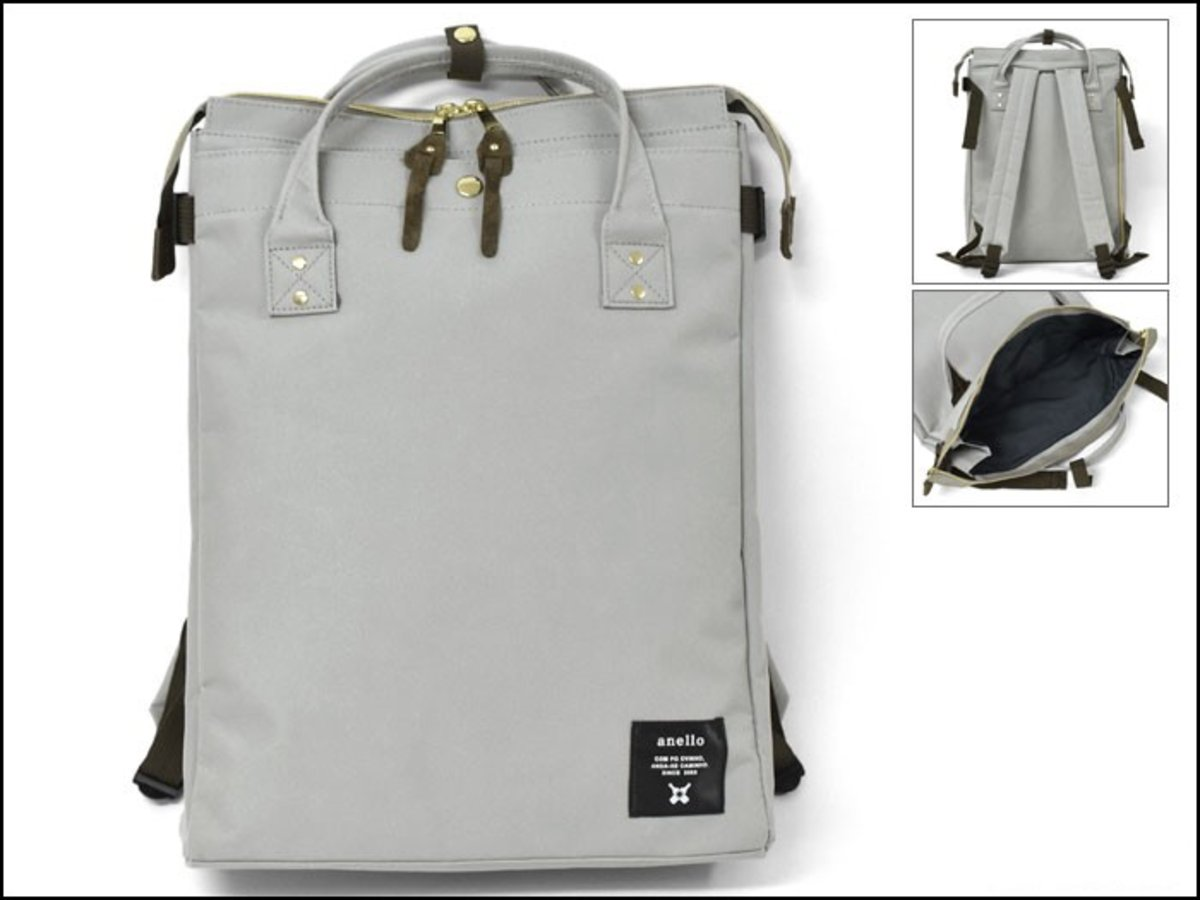 (Grey) Japan Anello 2WAY Hand Bag or Backpack
