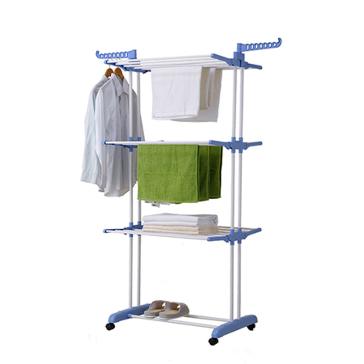 Korean foldable airfoil drying rack (blue) RK814-02