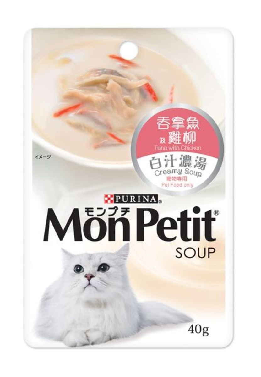 Creamy Soup Tuna with Chicken Cat