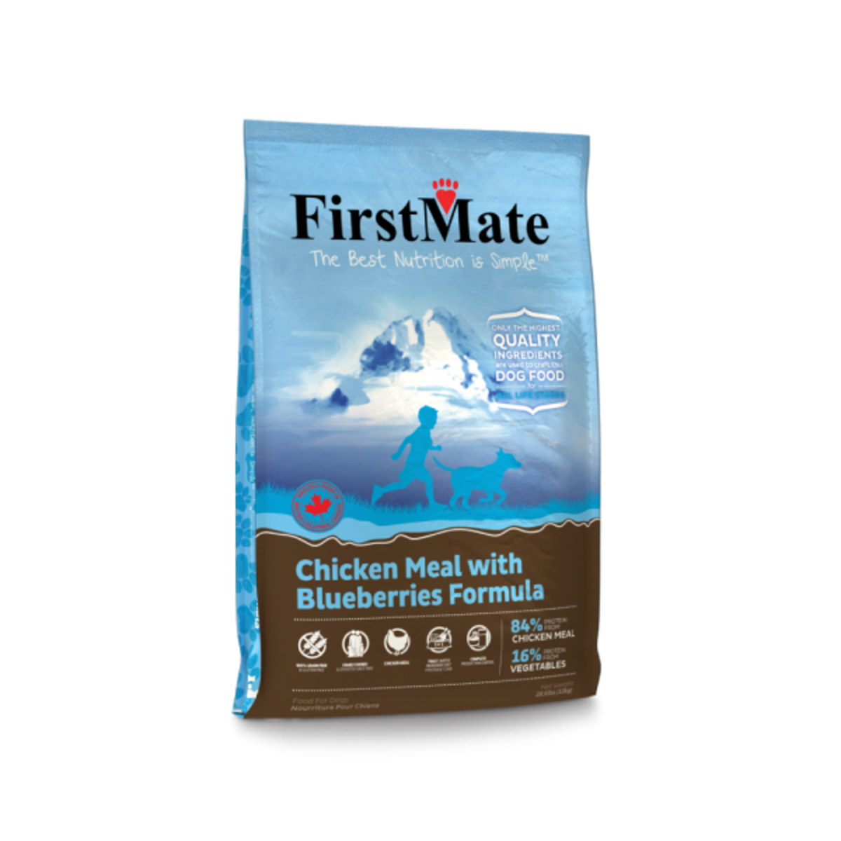 FirstMate Grain Free Chicken With Blueberries – Small Bites 5LB (10069) (Dealer Goods)