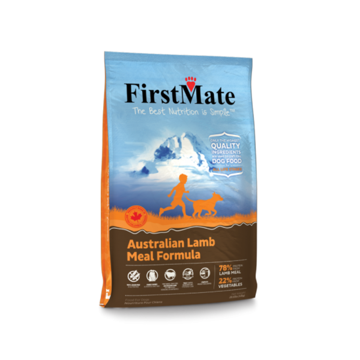 FirstMate Grain Free Australian Lamb Meal–Small Bites 5LB (10045) (Dealer Goods)