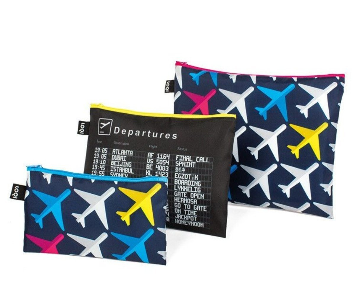 Zip Pocket 3pcs Set – AIRPORT Airplane Collection