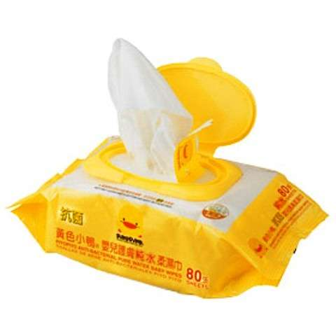 黃色小鴨嬰兒護膚柔濕巾