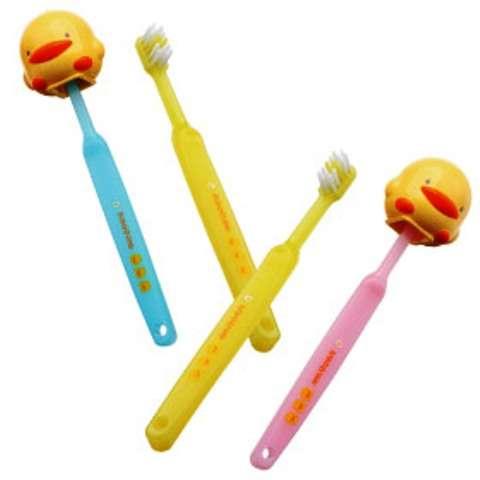 黃色小鴨幼兒牙刷組二入裝 (藍&粉紅色)