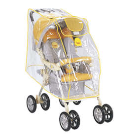黃色小鴨嬰兒手推車專用雨罩
