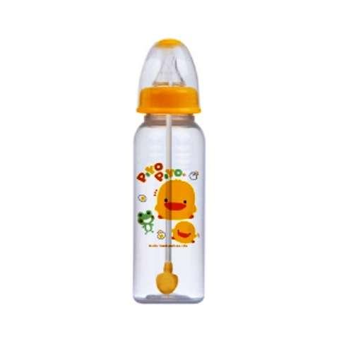 黃色小鴨自動吸管PP奶瓶 (240CC)