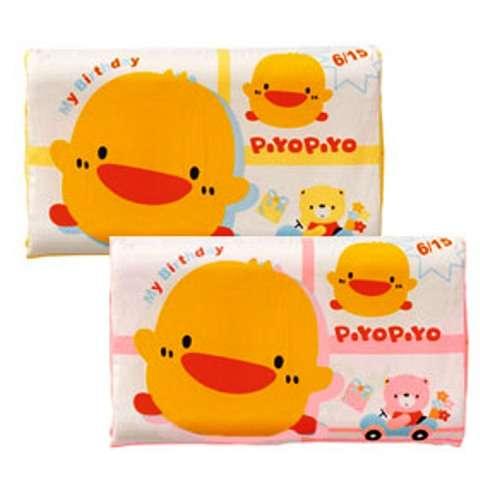 黃色小鴨幼兒天然乳膠枕 (粉紅色)