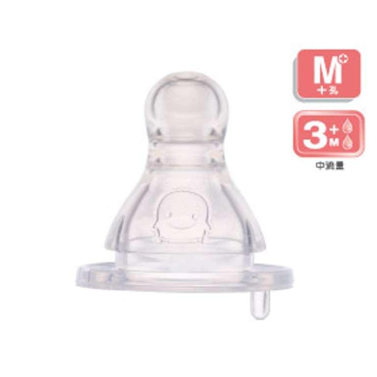黃色小鴨防脹氣標準口徑奶嘴 (M)