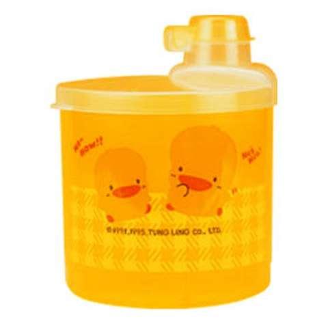 黃色小鴨大容量半透明四格奶粉罐