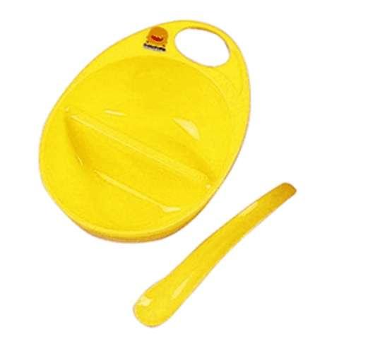 黃色小鴨粥碗+湯匙 (黃色)
