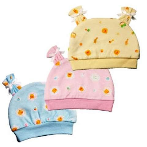 PiYO PiYO Dual Side Newborn Bonnet - Blue