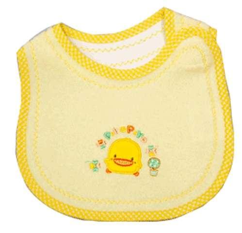 黃色小鴨毛巾布抗菌防臭圍兜 (黃色)