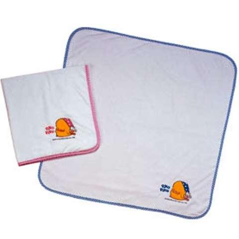 黃色小鴨毛巾紗布雙層浴巾 (藍色)