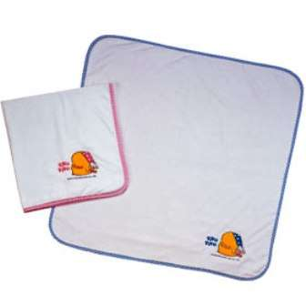 黃色小鴨毛巾紗布雙層浴巾 (粉色)