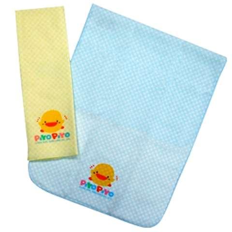黃色小鴨紗布方格印花澡巾 (藍色)