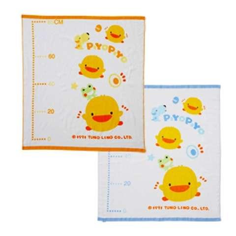 黃色小鴨身高圖兩用浴巾 (藍色)