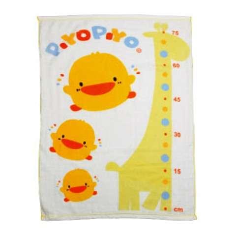 黃色小鴨長方型雙層紗布浴巾