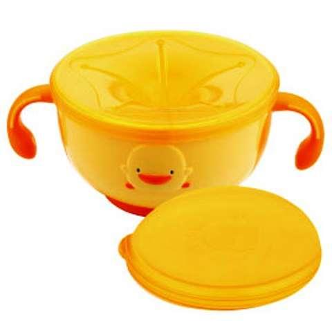 黃色小鴨防滑不易漏零食碗