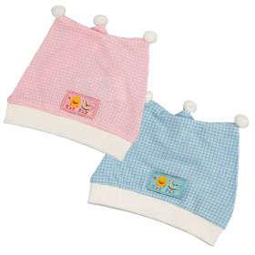 PiYO PiYO Triangle Newborn Bonnet - Blue