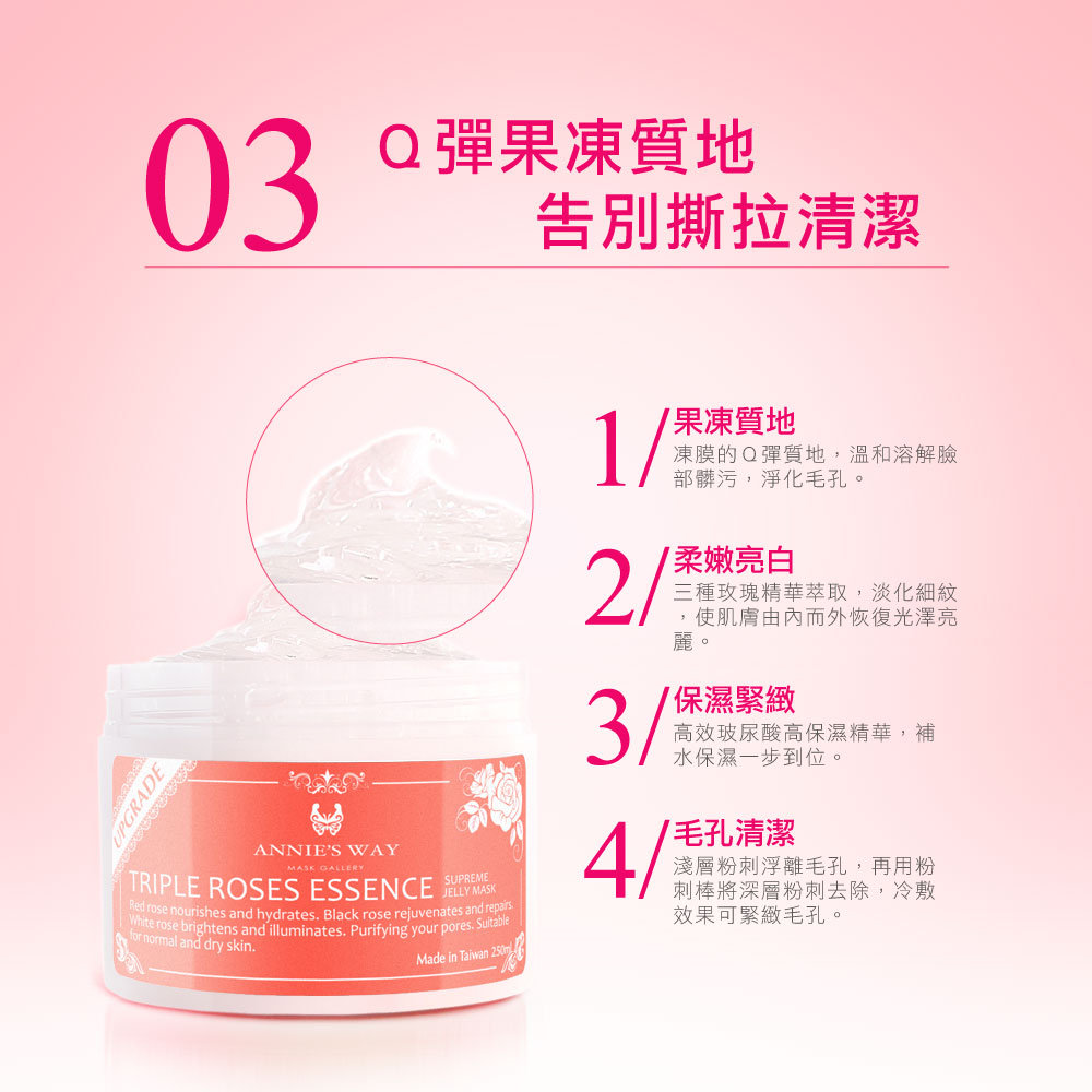 Anniesway Arbutin Hyaluronic Acid Brighting Jelly Mask 250ml Pink Photo Description