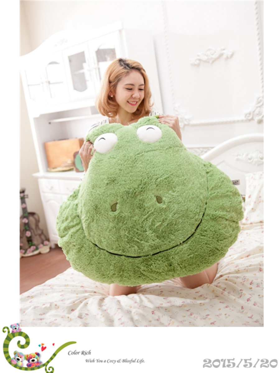 COLOR RICH -  Animal Cushion - Frog  (66cm x 84cm) - 20K035