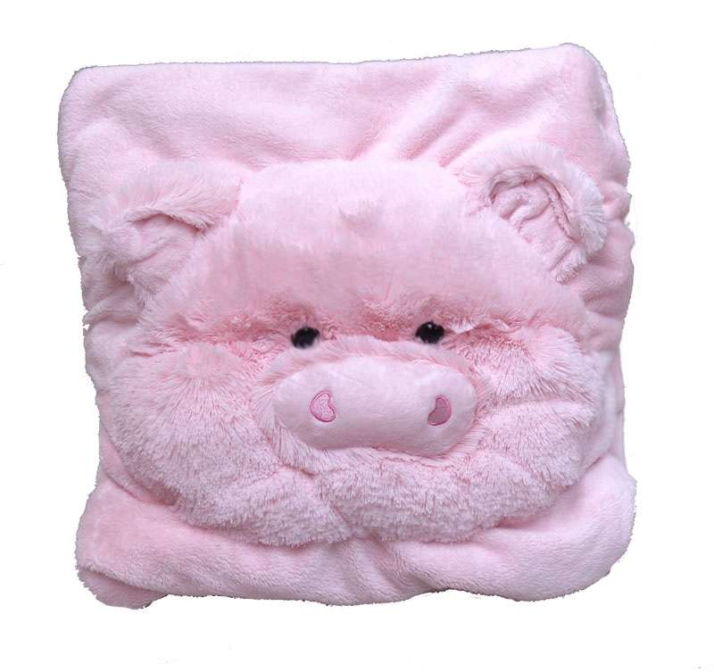 COLOR RICH -  Animal Blanket - Pig (125cm x 90cm) - C17109