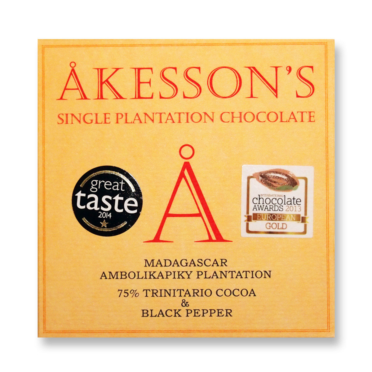 Madagascar - Ambolikapiky Plantation - 75% chocolate & Black Pepper - ORGANIC