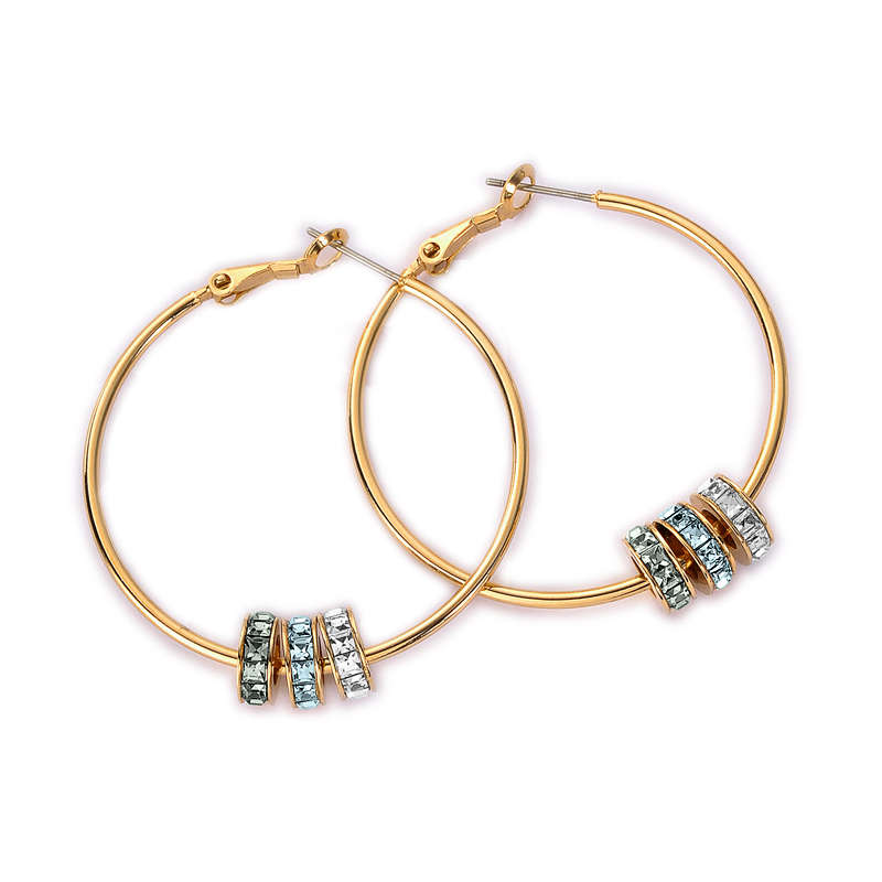 Micro Miss hoop pierced earring