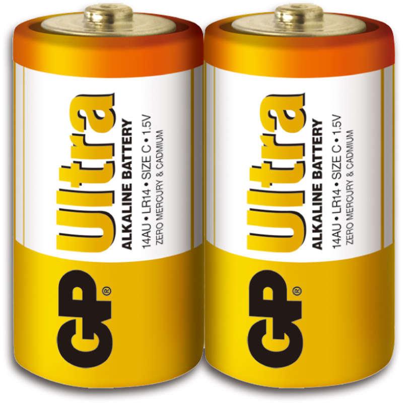 C size GP Ultra Alkaline - 2 pcs/shrink wrap