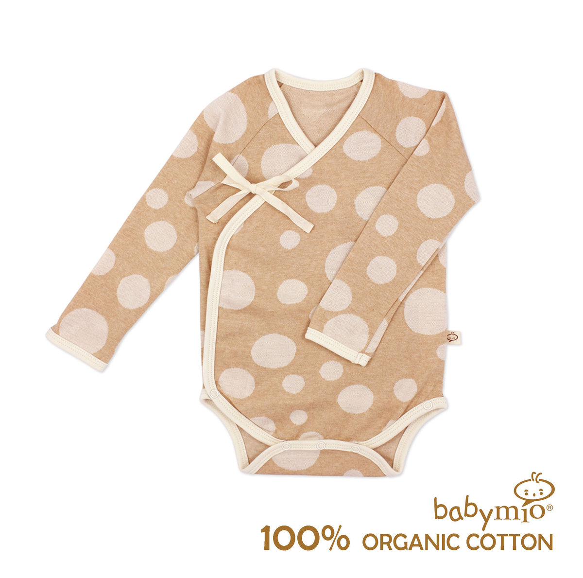 Precious Organic Cotton Long Sleeved Bodysuit - Big Dots Small Dots