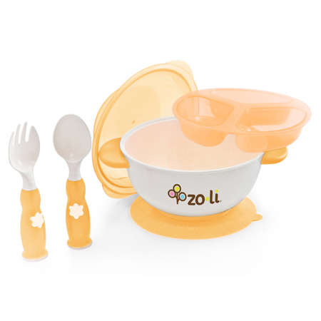 Stuck Suction Bowl Feeding Kit - Orange
