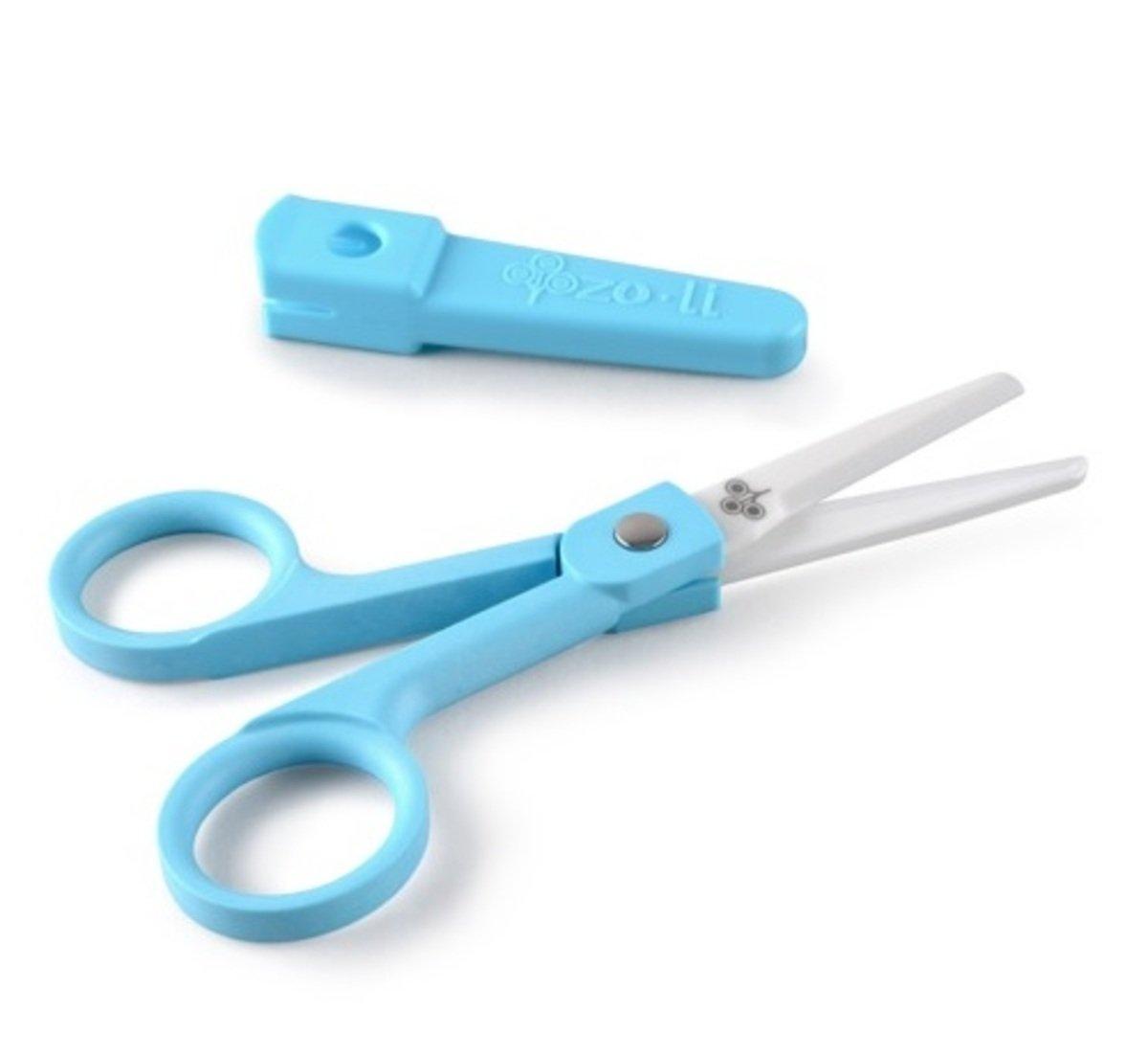 """Snip 6"""" Ceramic Food Scissors (Blue)"""