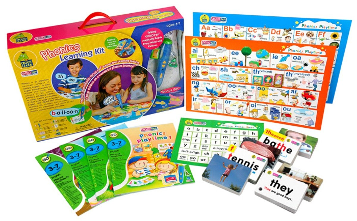 CP85080-PK-Phonics Learning Kit-Pink